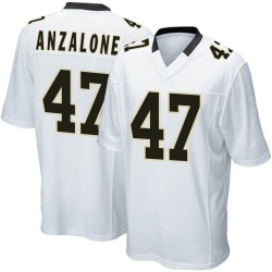 Nike Alex Anzalone New Orleans Saints Youth Game White Jersey