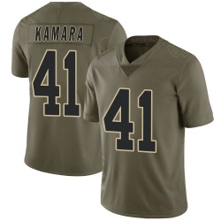 Nike Alvin Kamara New Orleans Saints Youth Limited Green 2017 Salute to Service Jersey