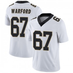Nike Larry Warford New Orleans Saints Youth Limited White Vapor Untouchable Jersey